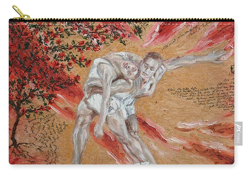 Oil Carry-all Pouch featuring the painting Fire- The Power Of Love by Agnes V