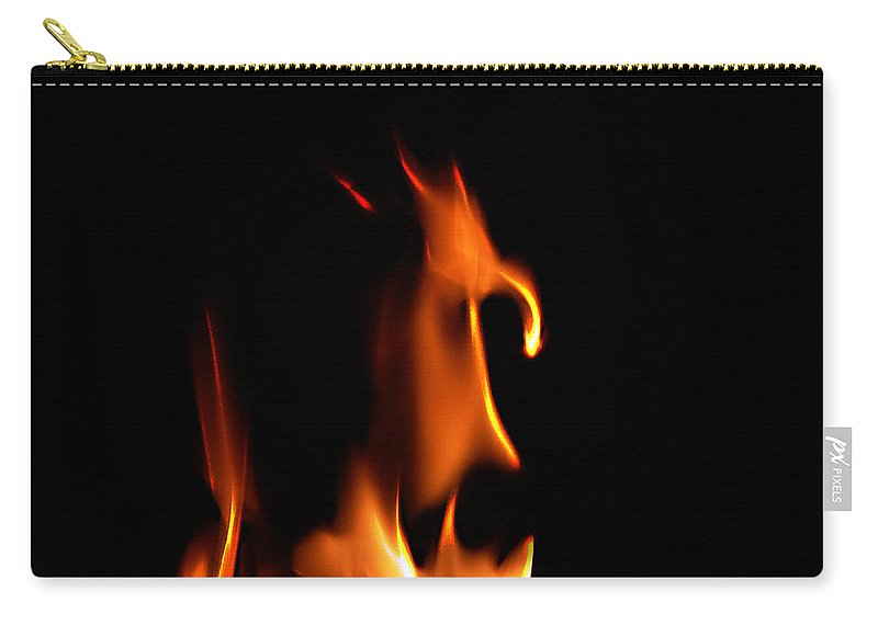 Cartoon Character Fire Carry-all Pouch featuring the photograph Fire Toon by Peter Piatt