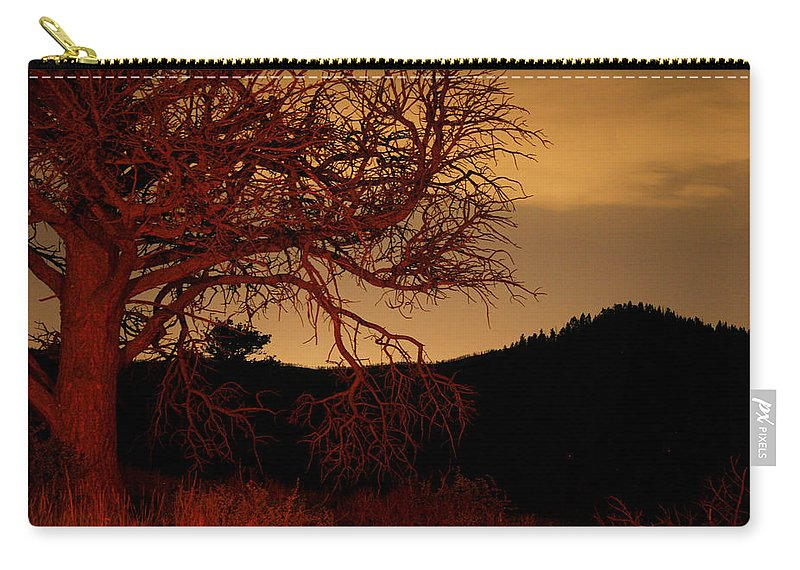 Landscape Carry-all Pouch featuring the photograph Fire Tree by Jeffery Ball