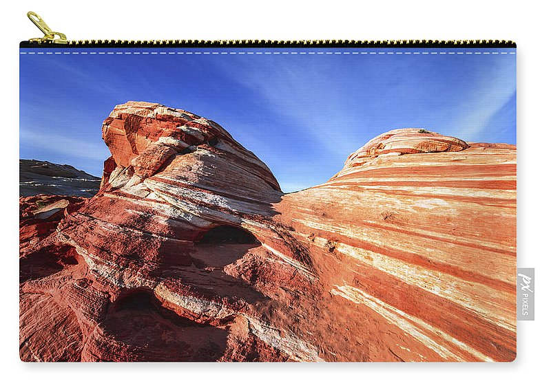 Fire Wave Carry-all Pouch featuring the photograph Fire Wave by Chad Dutson