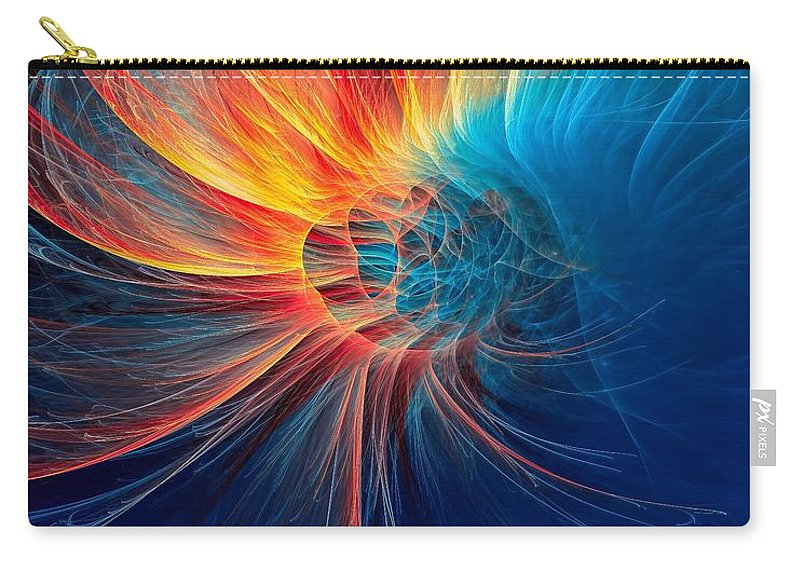 Fire Wind Carry-all Pouch featuring the digital art Fire Wind by Marfffa Art