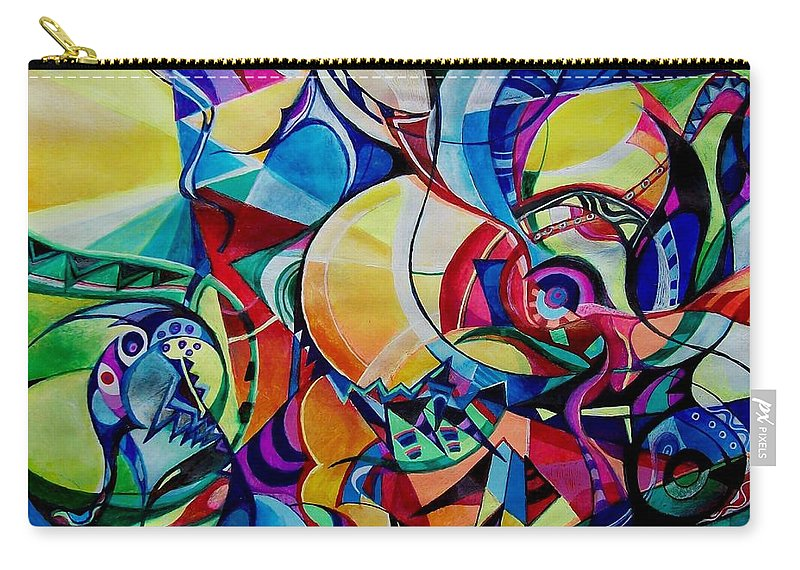 Emil Chakalov Firefly Gypsy Swing Acrylic Abstract Pens Paper Carry-all Pouch featuring the painting Firefly by Wolfgang Schweizer