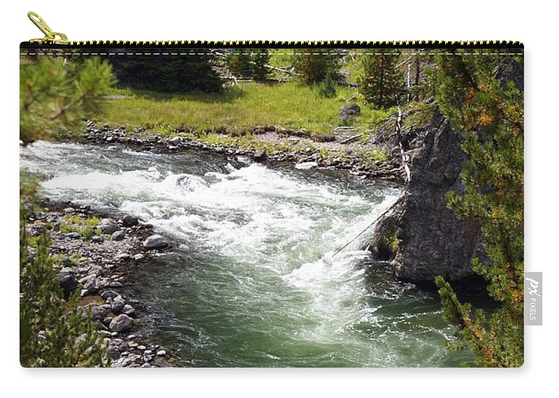 Yellowstone National Park Carry-all Pouch featuring the photograph Firehole Canyon 2 by Marty Koch