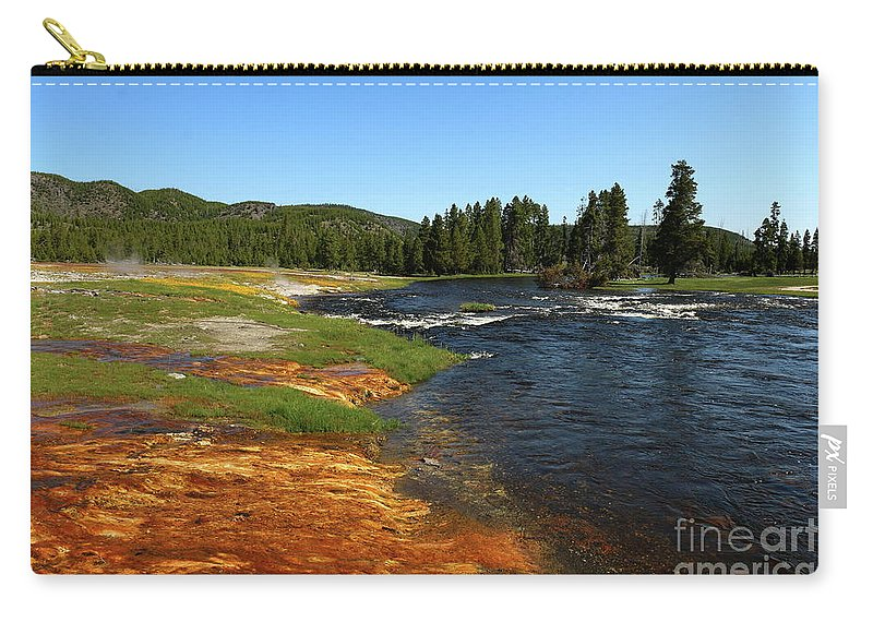 Park Carry-all Pouch featuring the photograph Firehole River Colors by Christiane Schulze Art And Photography