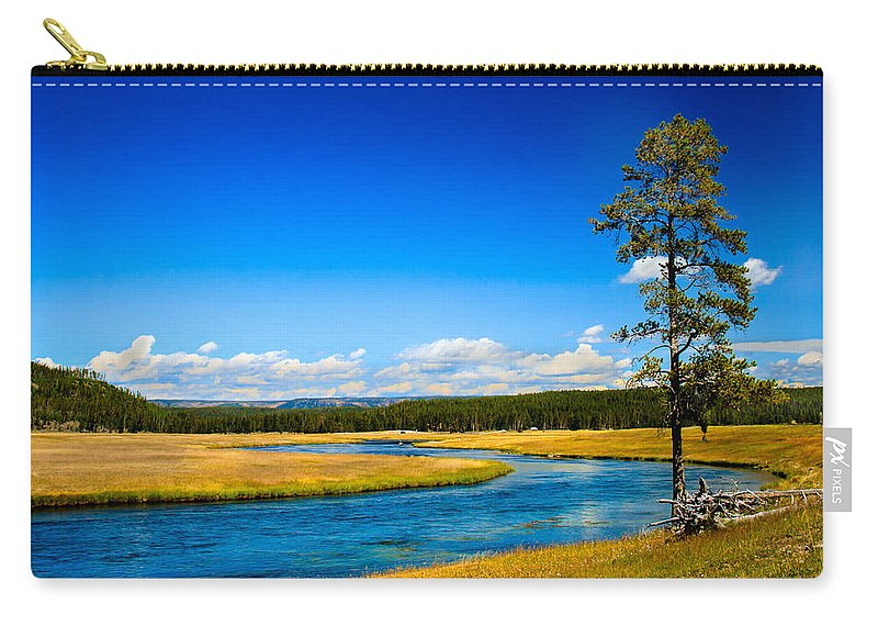 River Carry-all Pouch featuring the photograph Firehole River by Robert Bales