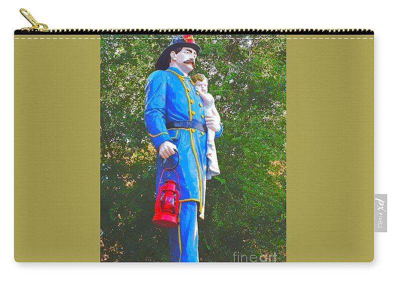 Fireman Carry-all Pouch featuring the photograph Firemen's Drinking Fountain by Tami Quigley