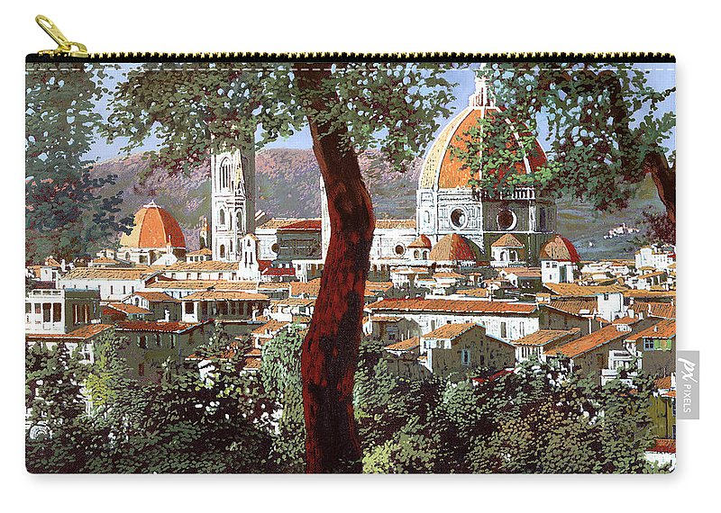 Landscape Carry-all Pouch featuring the painting Firenze by Guido Borelli
