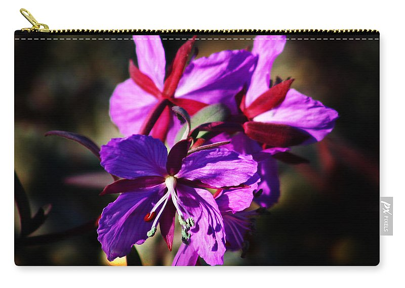 Fireweed Carry-all Pouch featuring the photograph Fireweed by Anthony Jones