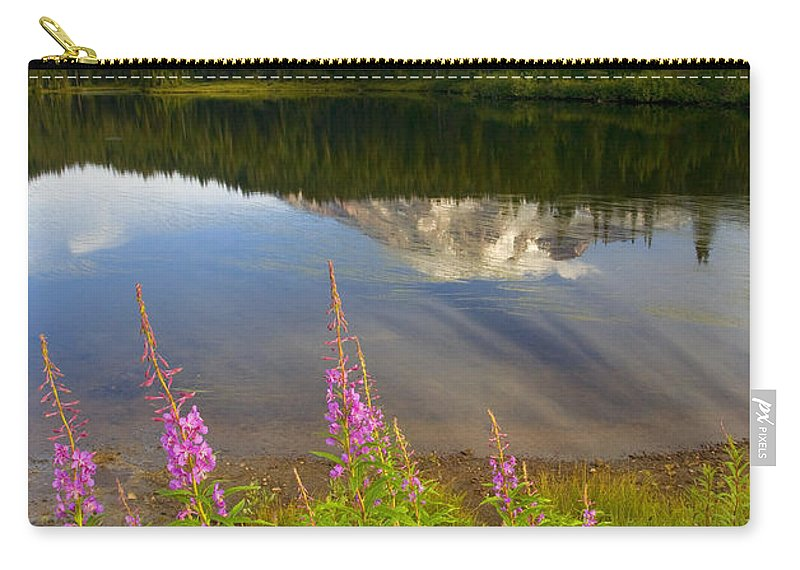 Fireweed Carry-all Pouch featuring the photograph Fireweed Reflections by Mike Dawson