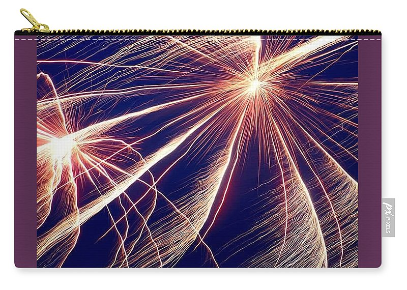 Fire Work. Fourth Of July. Carry-all Pouch featuring the photograph Firework by Amber Carpenter