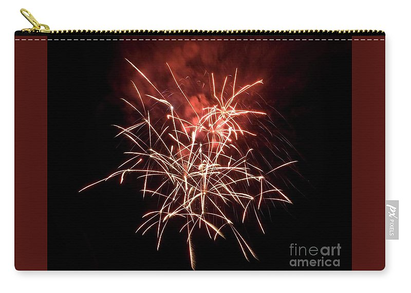 Fireworks Carry-all Pouch featuring the photograph Fireworkd by Maria Evripidou
