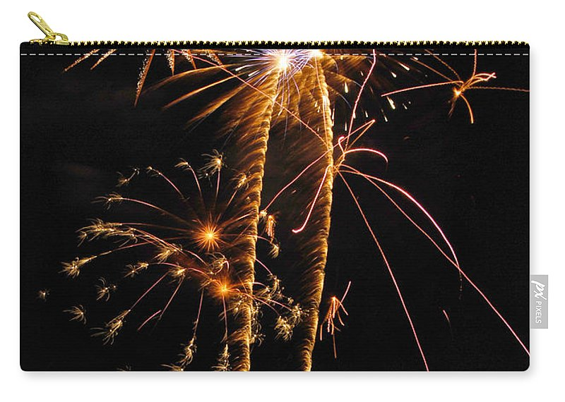 Fireworks Carry-all Pouch featuring the photograph Fireworks 2 by Michael Peychich