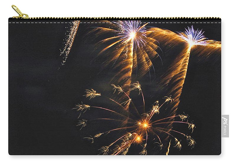 Fireworks Carry-all Pouch featuring the photograph Fireworks 3 by Michael Peychich