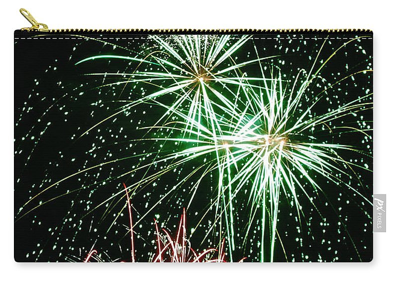 Fireworks Carry-all Pouch featuring the photograph Fireworks 4 by Michael Peychich