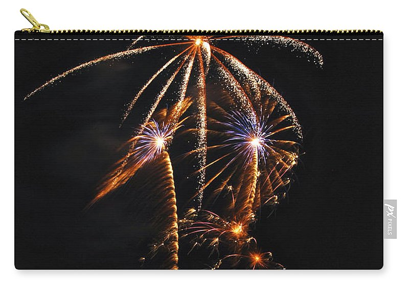 Fireworks Carry-all Pouch featuring the photograph Fireworks 5 by Michael Peychich