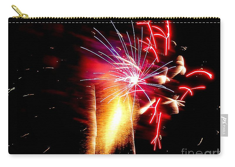 Fireworks Carry-all Pouch featuring the photograph Fireworks Abstract #8 by Ed Weidman