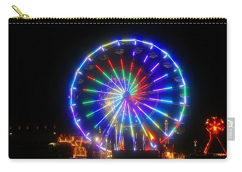 Fireworks Carry-all Pouch featuring the photograph Fireworks At The Fair by David Lee Thompson