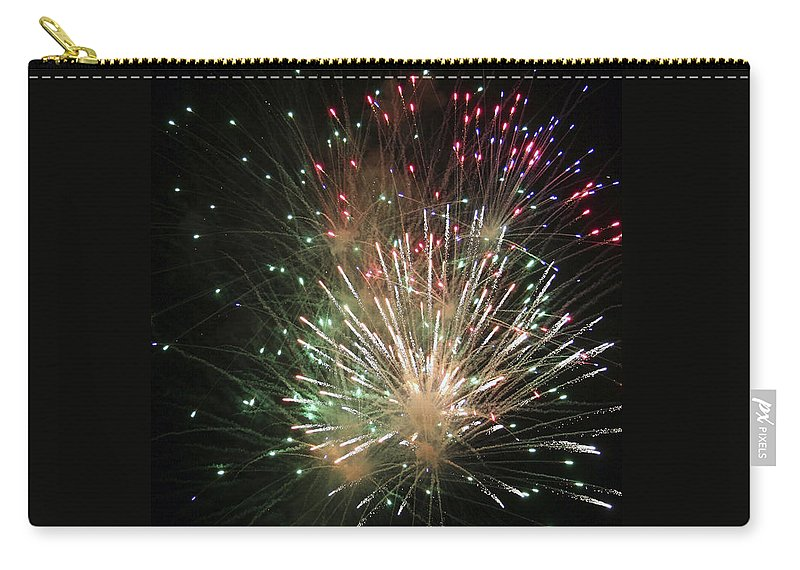 Fireworks Carry-all Pouch featuring the photograph Fireworks by Margie Wildblood