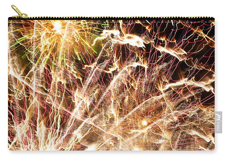 Firework Carry-all Pouch featuring the photograph Fireworks by Oliver Johnston