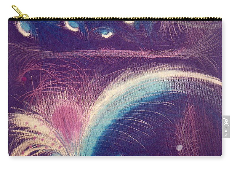 Abstract Carry-all Pouch featuring the mixed media Fireworks by Steve Karol