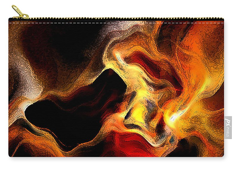 Abstract Carry-all Pouch featuring the digital art Firey by Ruth Palmer