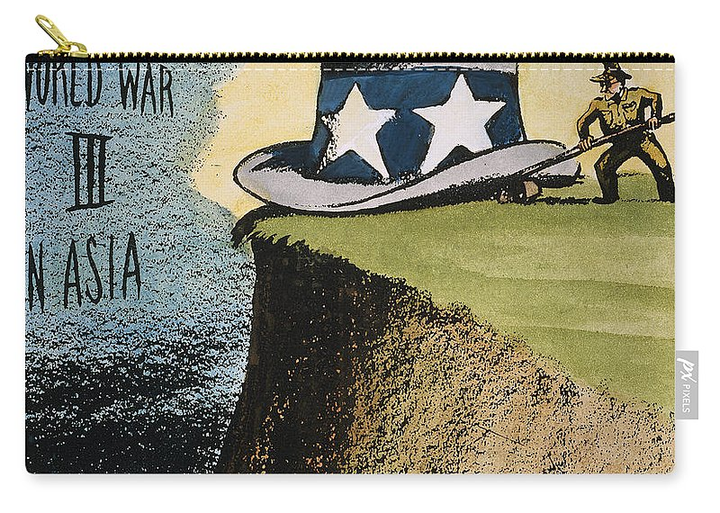 1951 Carry-all Pouch featuring the photograph Firing Of Macarthur by Granger