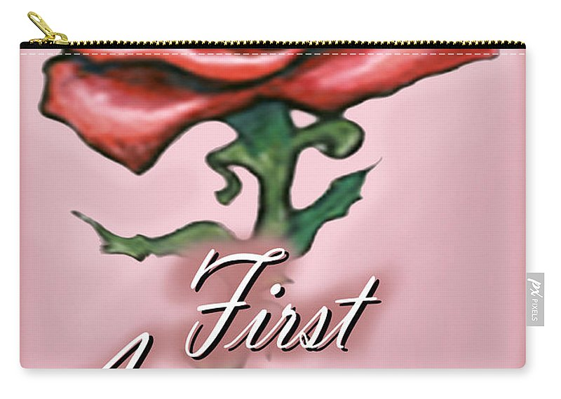 First Carry-all Pouch featuring the greeting card First Anniversary by Kevin Middleton