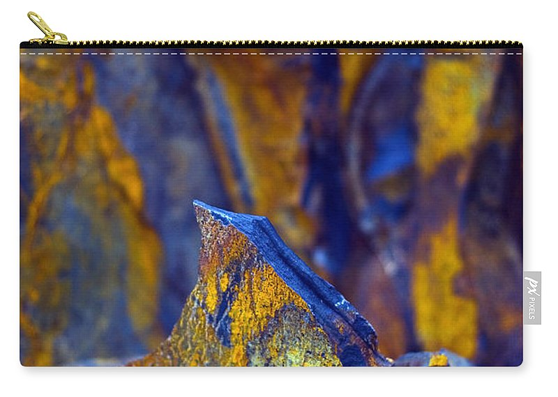 Texture Carry-all Pouch featuring the photograph First Cut Is The Deepest by Skip Hunt