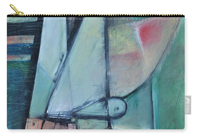 Face Carry-all Pouch featuring the painting First Day North Of The Tension Line by Tim Nyberg