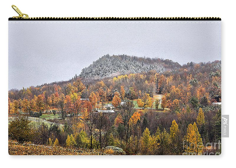 Fall Carry-all Pouch featuring the photograph First Dusting by Deborah Benoit