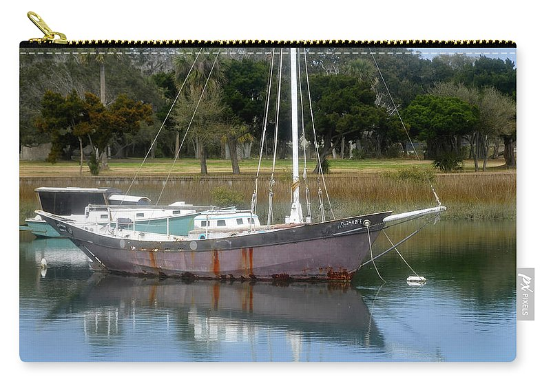 Boat Carry-all Pouch featuring the photograph First Harbor by David Lee Thompson