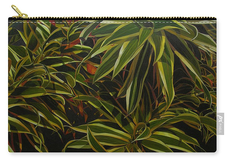 Leaves Carry-all Pouch featuring the painting First in Cabot by Thu Nguyen