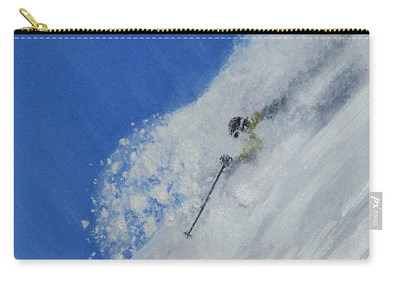 Ski Carry-all Pouch featuring the painting First by Michael Cuozzo