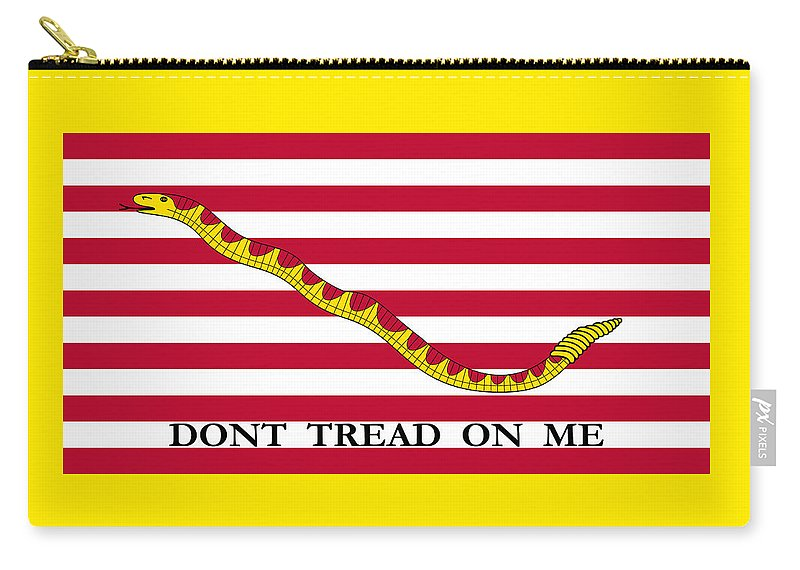 Navy Carry-all Pouch featuring the mixed media First Navy Jack by War Is Hell Store