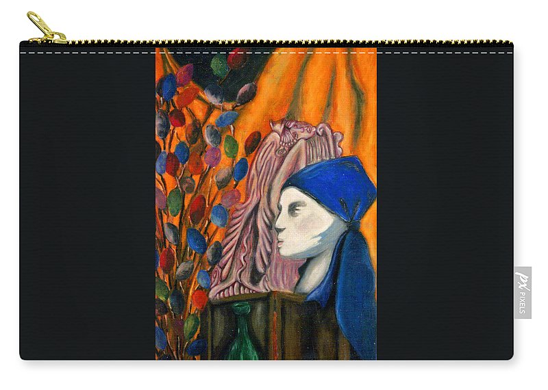 Mannequin Carry-all Pouch featuring the pastel First Oil Pastel by Jean Haynes