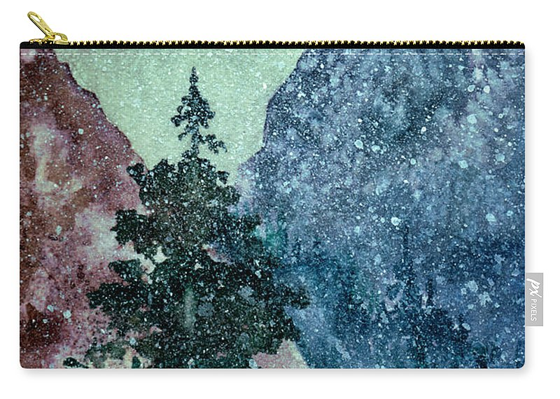 Landscape Carry-all Pouch featuring the painting First Snowfall by Brenda Owen