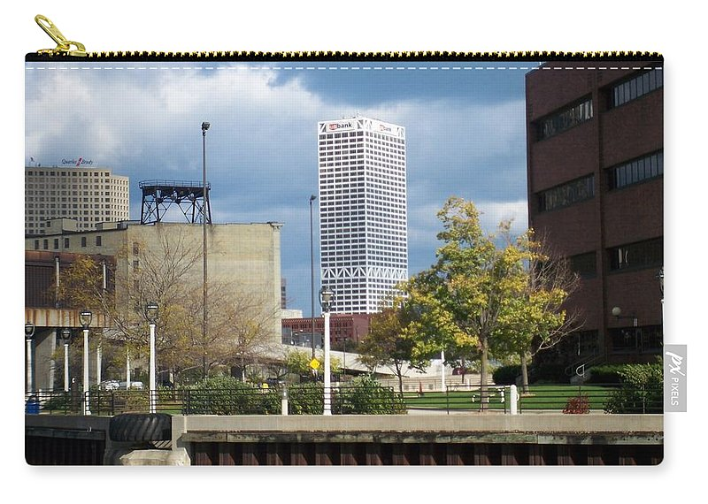 First Star Bank Carry-all Pouch featuring the photograph First Star View From River by Anita Burgermeister