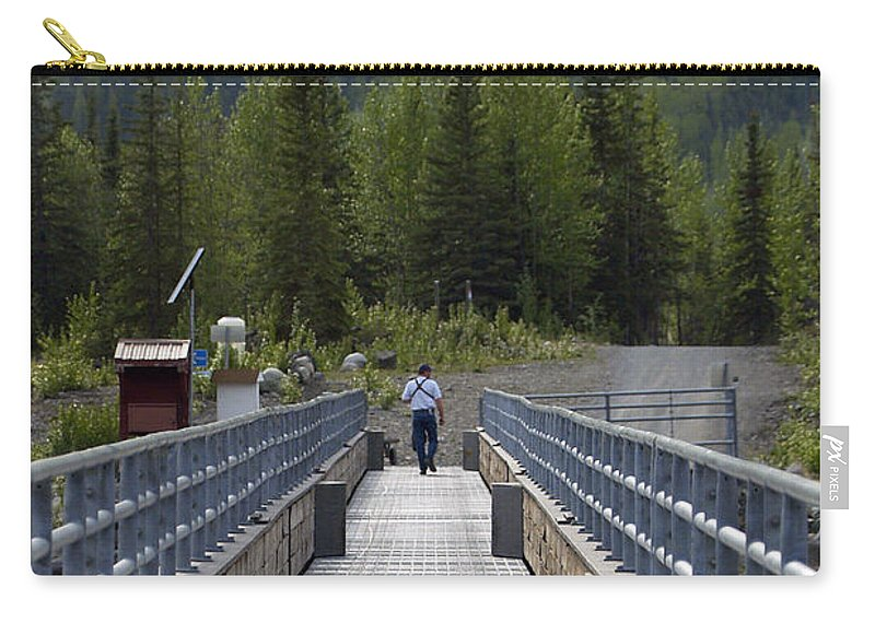 Bridge Carry-all Pouch featuring the photograph First Steps Down New Roads by Denise McAllister