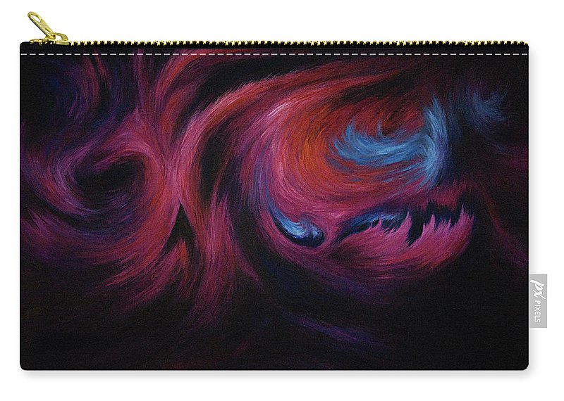 Abstract Carry-all Pouch featuring the painting First Transcendence by Rachel Christine Nowicki