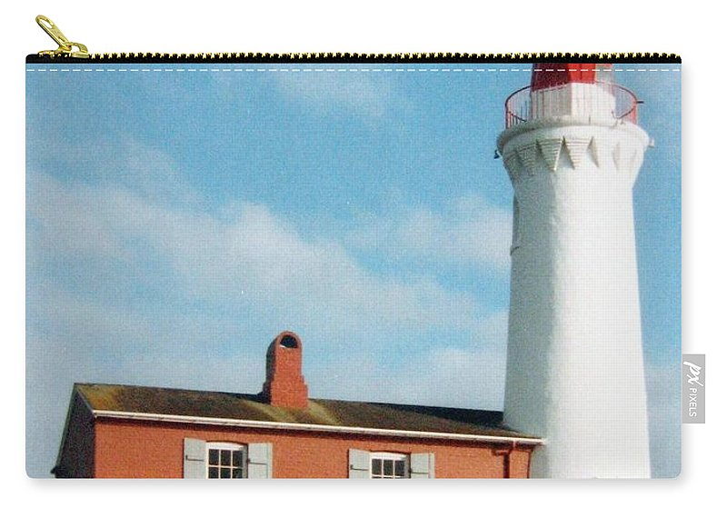 Fisgard Lighthouse Carry-all Pouch featuring the photograph Fisgard Lighthouse by Will Borden