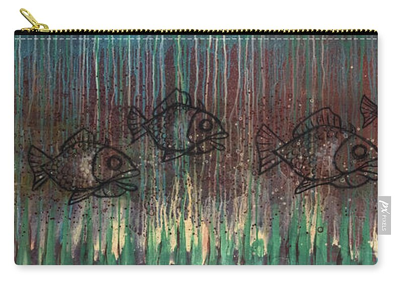 Fish Carry-all Pouch featuring the painting Fish by Kelly Jade King