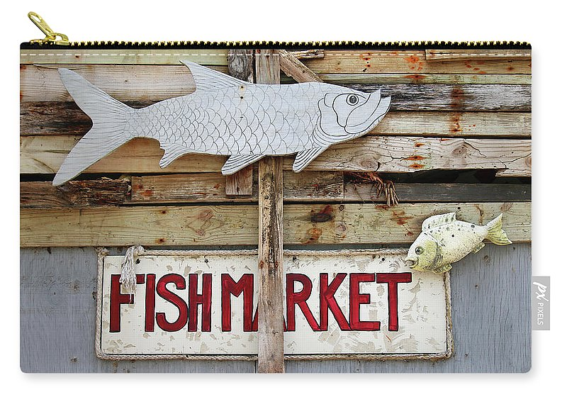 Key Largo Carry-all Pouch featuring the photograph Fish Market by Art Block Collections