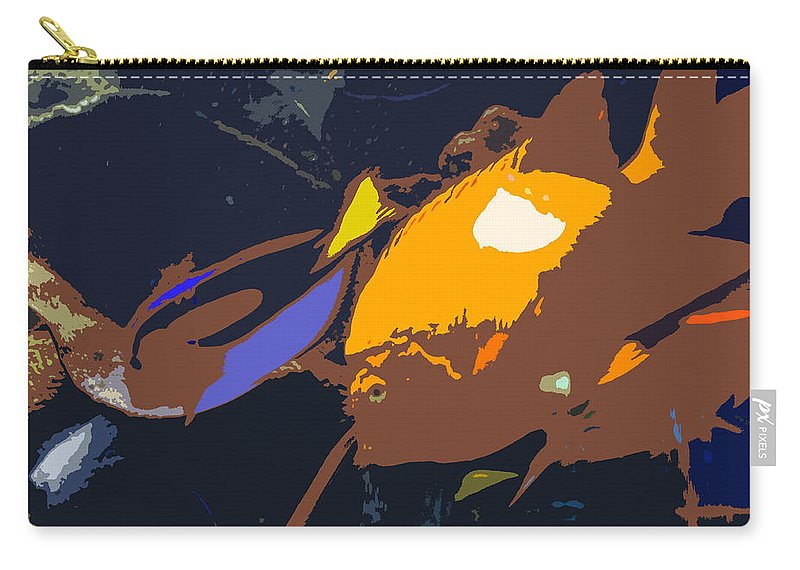 Tropical Carry-all Pouch featuring the painting Fish Of The Tropics by David Lee Thompson