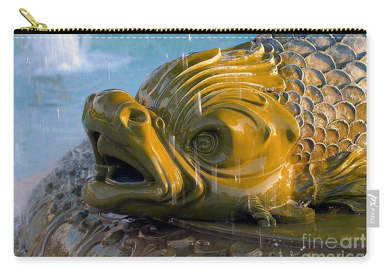 Fish Carry-all Pouch featuring the photograph Fish Out Of Water by David Lee Thompson
