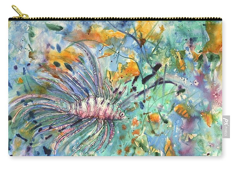 Fish Carry-all Pouch featuring the painting Fish by Shirley Sykes Bracken