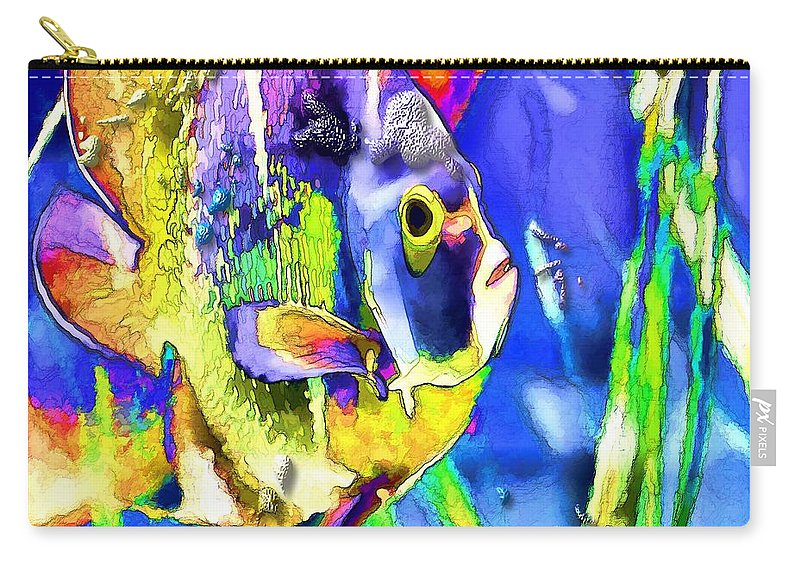 Fish Carry-all Pouch featuring the photograph Fish Snack by Image Takers Photography LLC - Laura Morgan