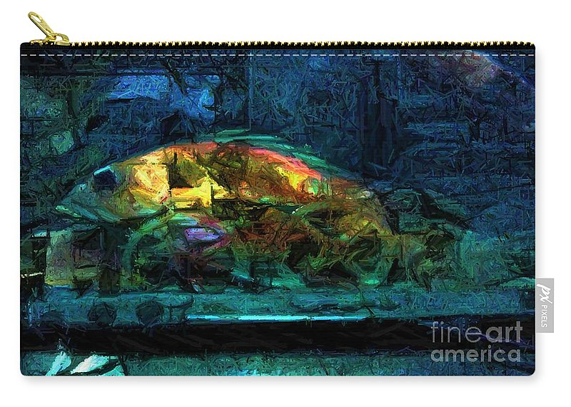Fish Carry-all Pouch featuring the digital art Fish Wheels by Ron Bissett