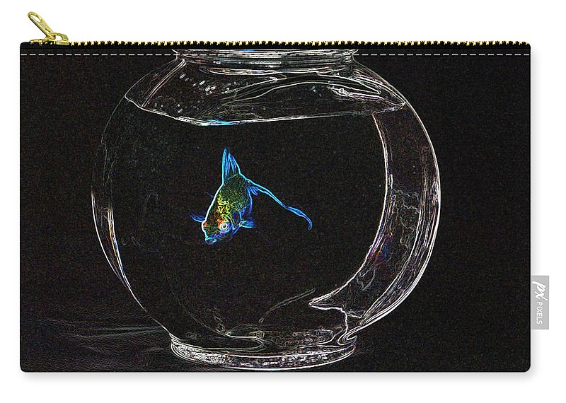 Fish Carry-all Pouch featuring the photograph Fishbowl by Tim Allen