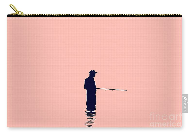 Fishing Carry-all Pouch featuring the photograph Fisherman by David Lee Thompson