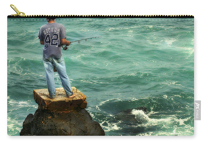 Americana Carry-all Pouch featuring the photograph Fisherman by Marilyn Hunt